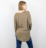 Cold Shoulder Long Sleeve Top