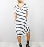 Striped T-Shirt Dress With Pockets