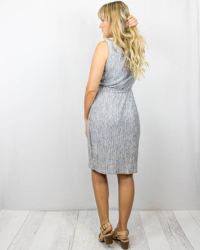 Grey Tank Wrap Dress