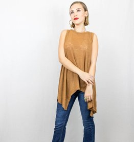 Camel Open Back Tank