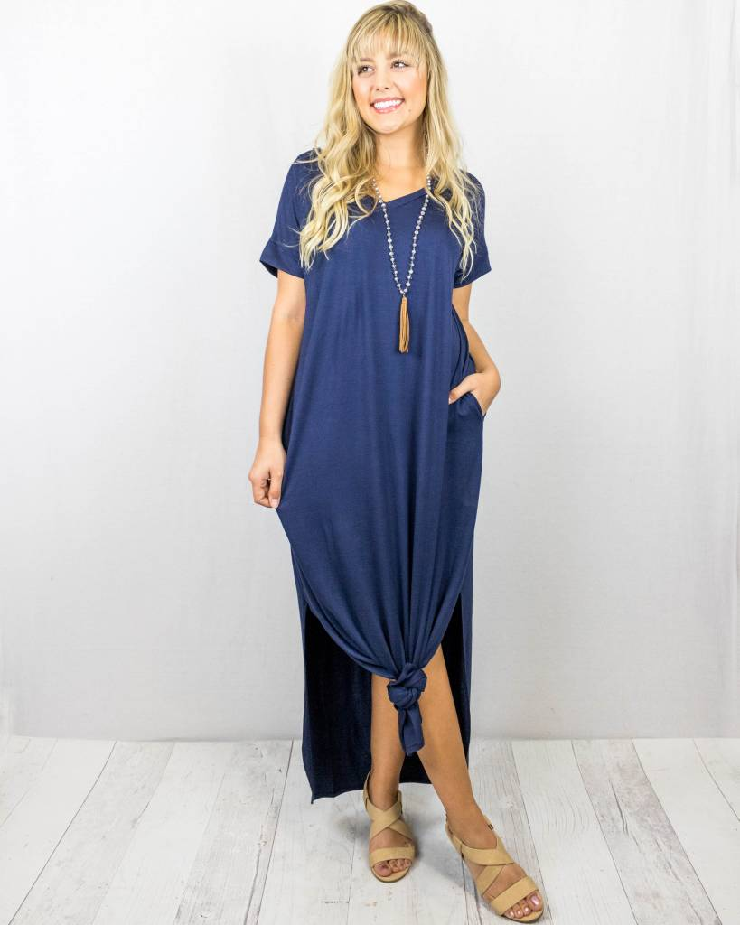 T-Shirt Maxi Dress With Slits