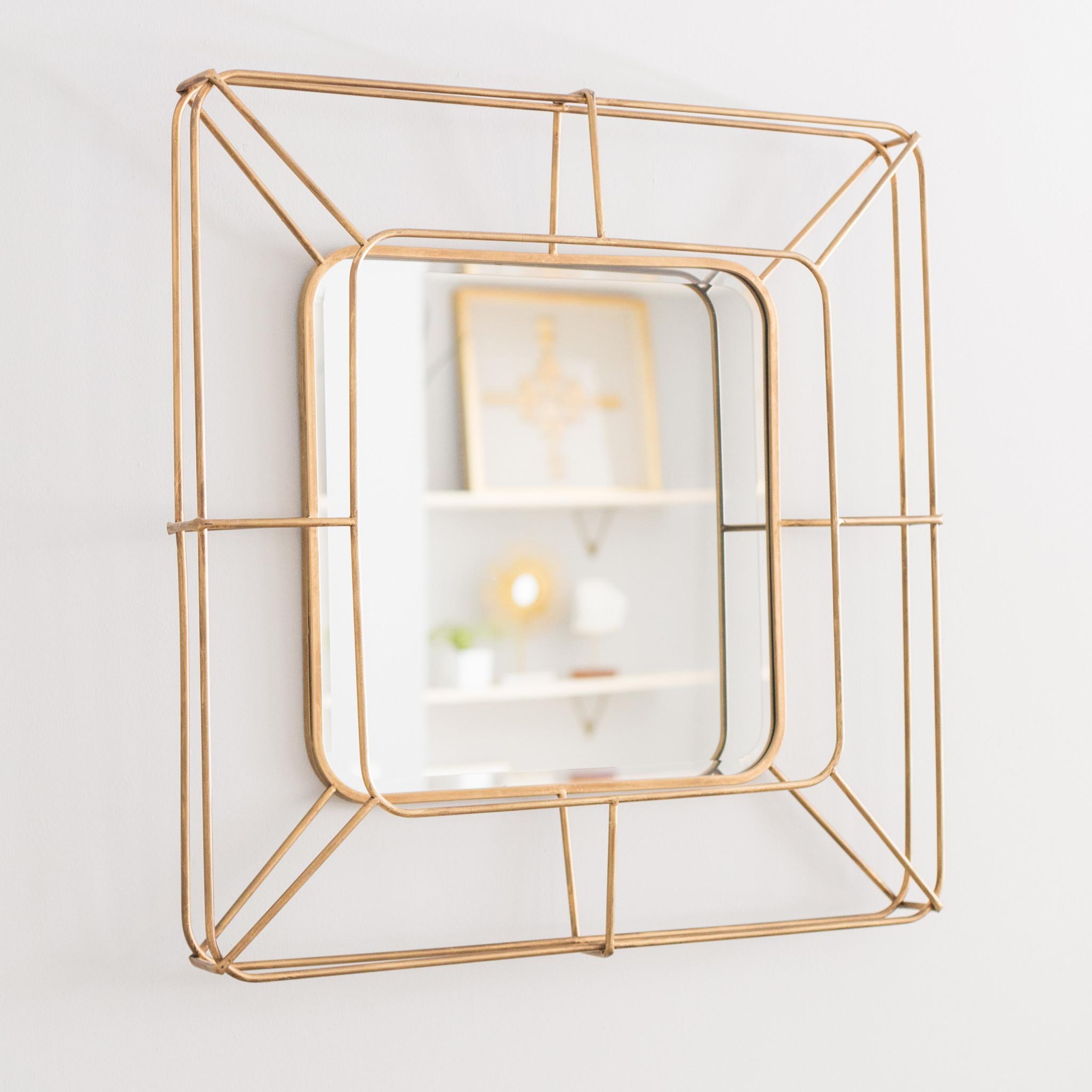 Gold geometric mirror