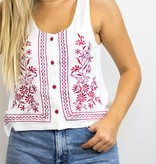 Embroidered Crop Tank