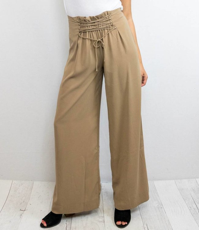 Front Lace Up Pants