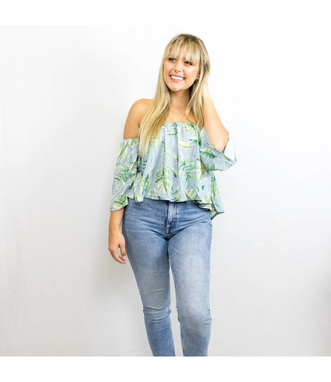 Off the Shoulder Palm Top