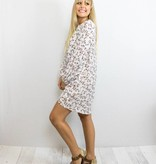 White Floral Keyhole Dress