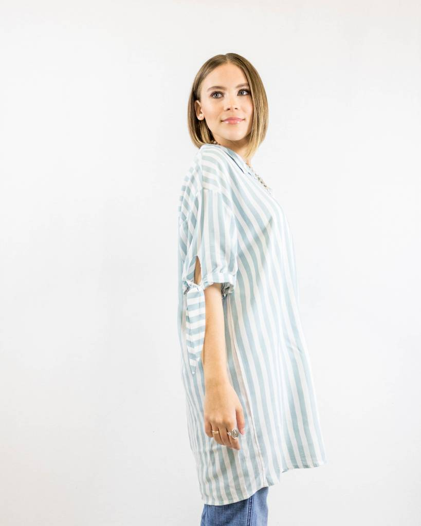 Over-sized Button Up Blouse