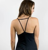 Black Spaghetti Strap Swing Dress