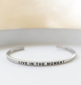 Live in the moment bangle bracelet