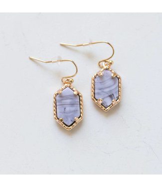 Dangle Marble Earring