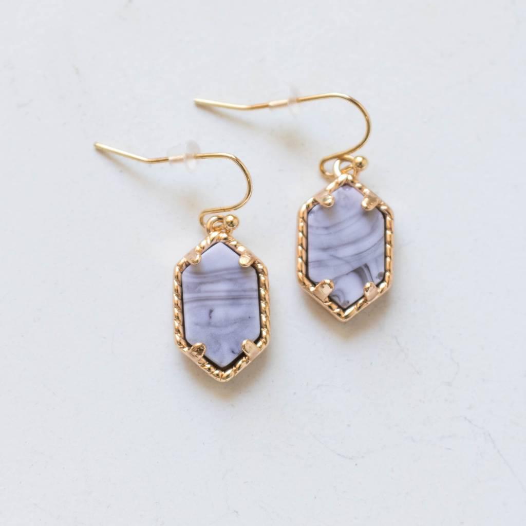 Dangle Marble Earring