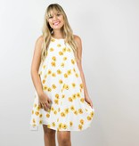 Yellow Floral Shift Dress