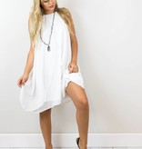 White Chiffon Shift Dress