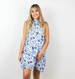 Blue Floral Shift Dress