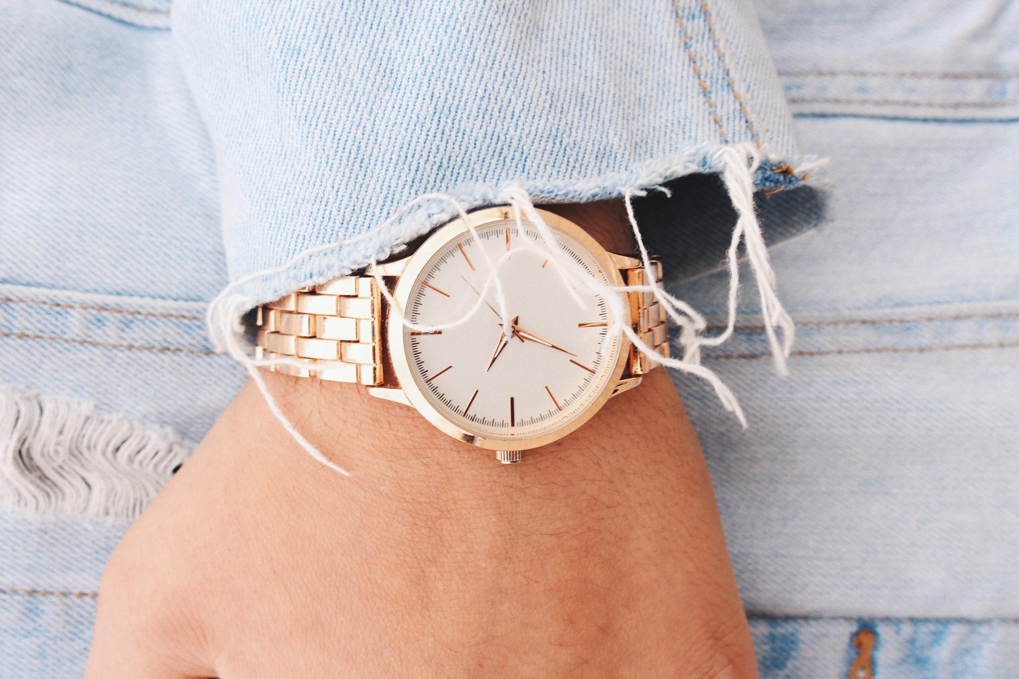Cute Watch & Jean Jacket