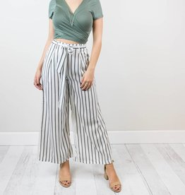 Bow Striped Pants