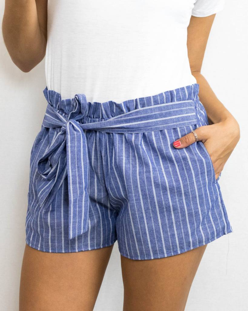 Striped Bow Shorts