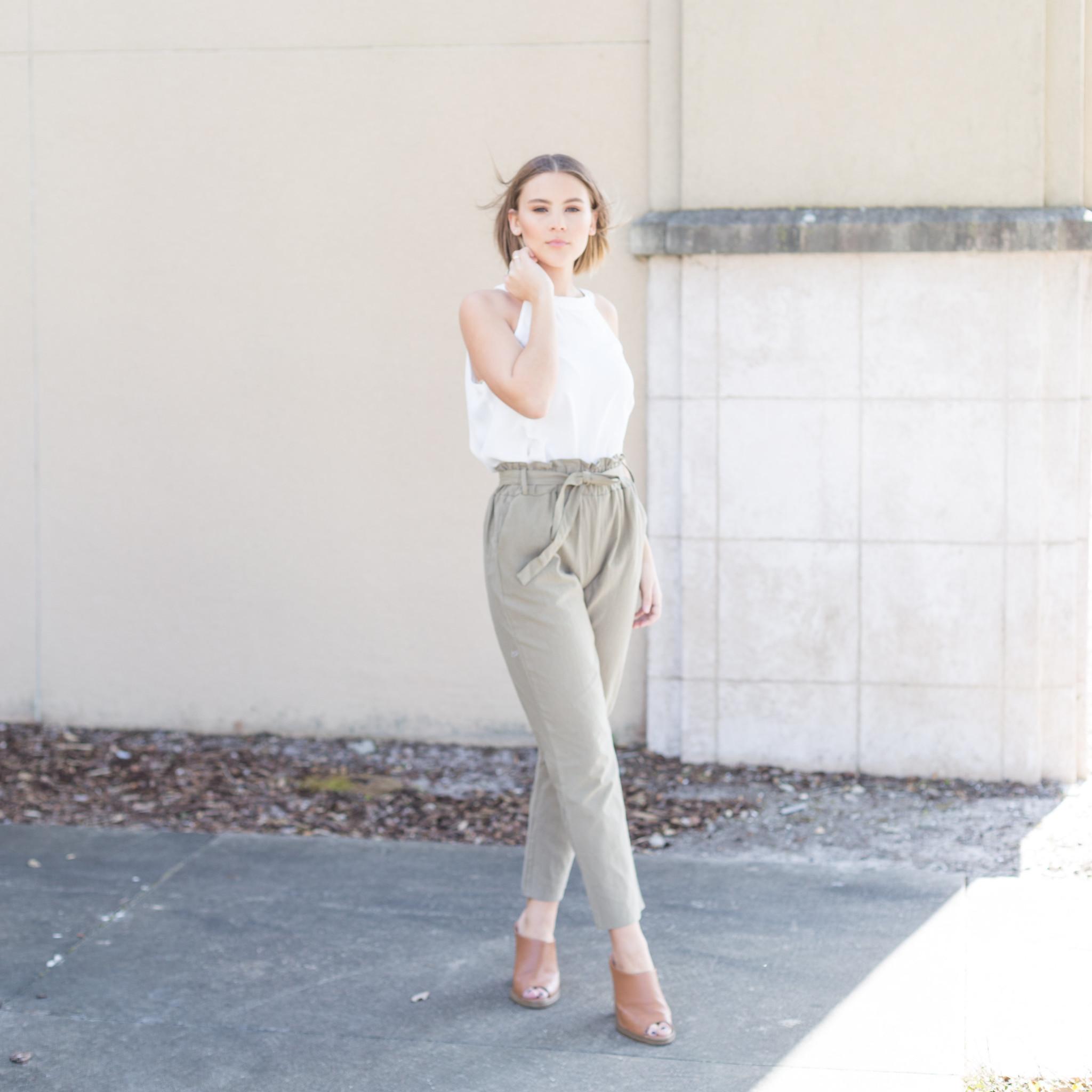 Green Bow Pants