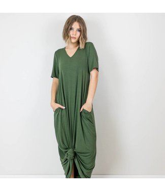 T-Shirt Maxi Dress With Pockets