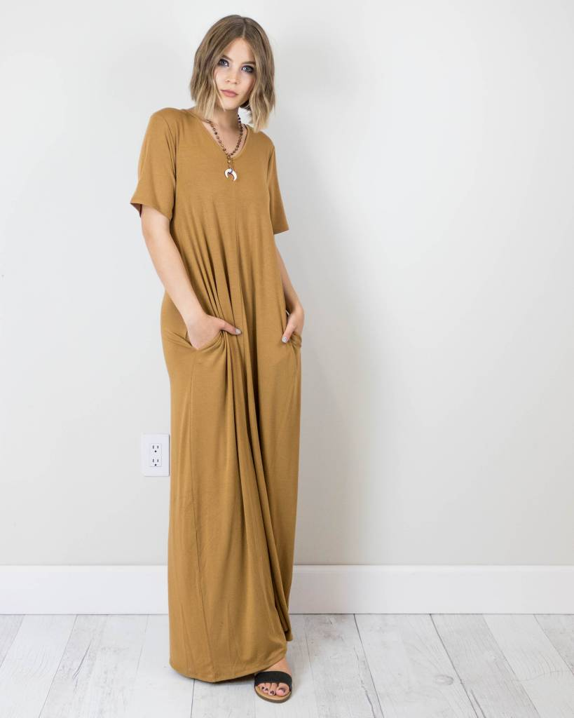 t shirt maxi dress with pockets the copper closet