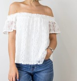 Off The Shoulder White Lace Top