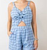 Plaid Cut Out Romper
