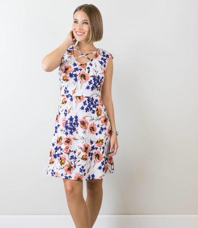 Floral Fit and Flare Dress
