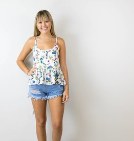 Floral Peplum Crop Top