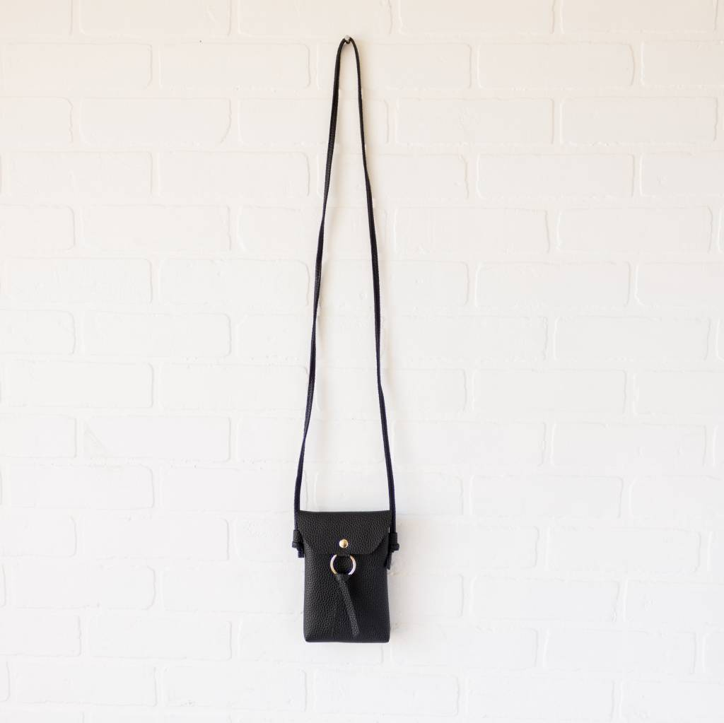 Tassel Ring Leather Purse