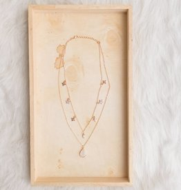 Pink Stone Layered Necklace