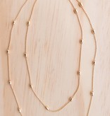 Gold Layered Y Necklace