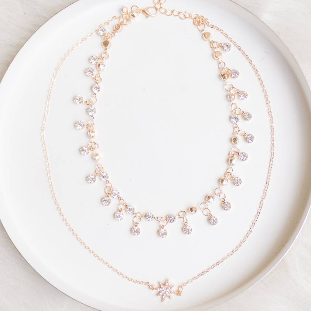 Layered Star Charm Necklace