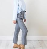 Gray Striped Bow Pants