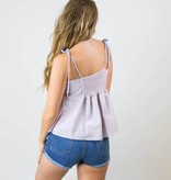Front Tie Striped Tank