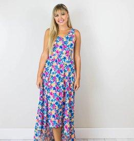 Bright Floral Maxi Dress