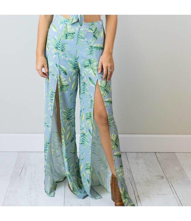 Palm Print Pants