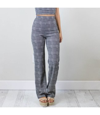 Plaid High Waisted Pants