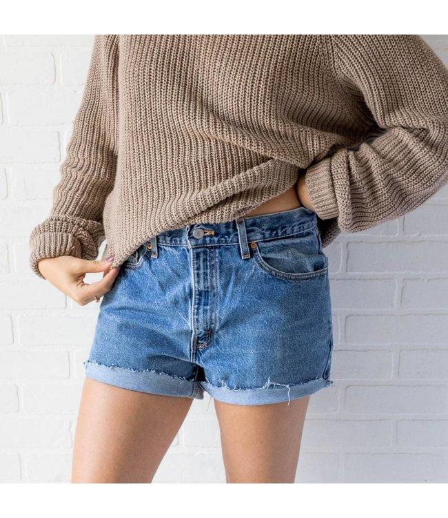 Vintage Levi Frayed Denim Shorts