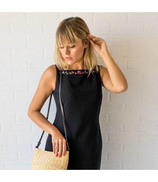 Vintage Black Embroidered Dress