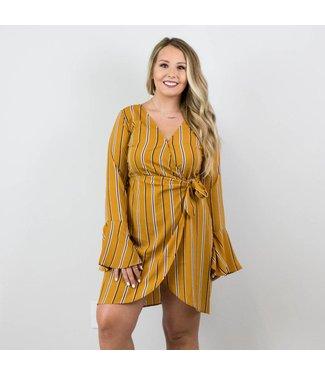 Mustard Striped Dress