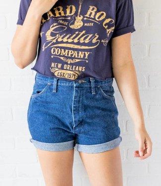 Vintage Rustler Dark Wash Shorts