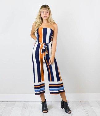 Chic Striped Jumpsuit