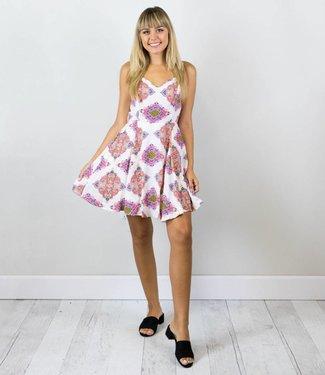 Fuchsia Patterned Dress