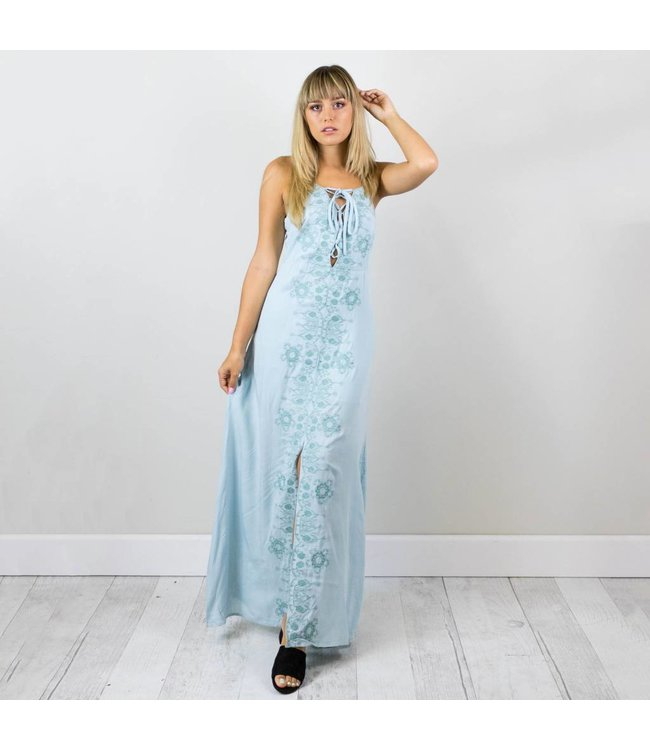 Mint Embroidered Dress