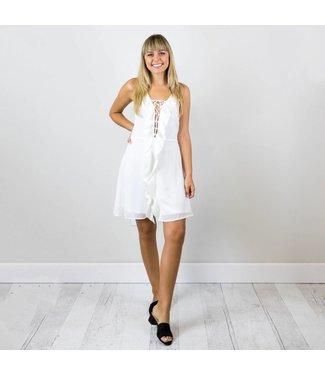 Chiffon Front Ruffle Dress