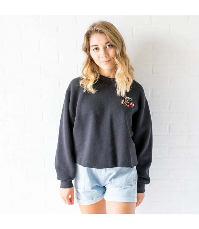 Vintage Las Vegas Cropped Sweatshirt