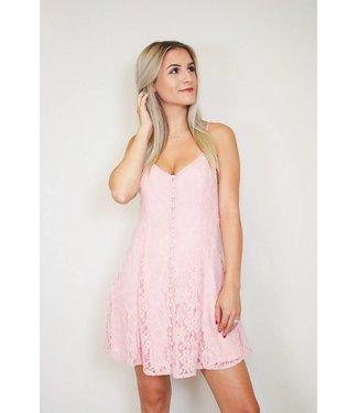 Lace Button Down Dress