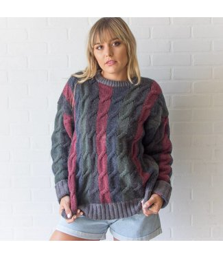 Vintage Multi-colored Wool Sweater