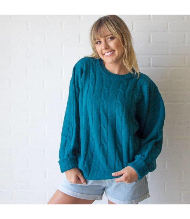 Vintage Teal Sweater