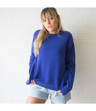 Vintage Royal Blue Knit Sweater